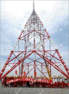 یکی از کاربردهای مقاطع CFT را میتوان در ساخت و بهروزرسانی برجهای انتقال نیرو مشاهده کرد. یکی از مشهورترین موارد استفاده از مقاطع CFT، بلندترین برج انتقال نیروی جهان در دنسا با ارتفاع 370 متر است.