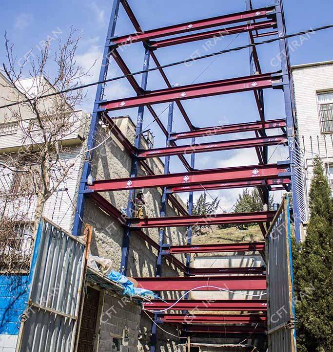 پروژه سازه CFT- تهران- بلوار ارتش (2)